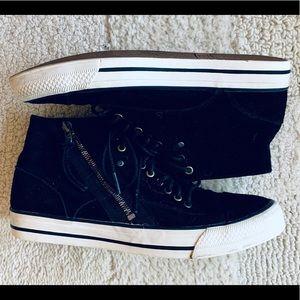 Diesel Black Midtop Laika Persis zip sneaker 9